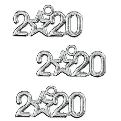 Christmas charm 2020 antique silver