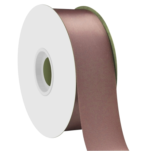 Dark Peach Single Face Satin Ribbon 38mm x 50m