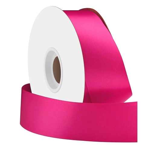 Fouchsia Single Face Satin Ribbon 38mm x 50m