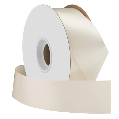 Ivory Single Face Satin Ribbon 38mm x 50m