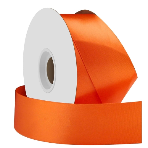Orange Single Face Satin Ribbon 38mm x 50m
